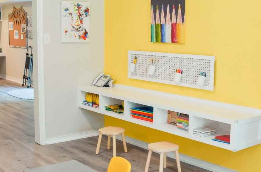 Legacy House Preschool coloring station