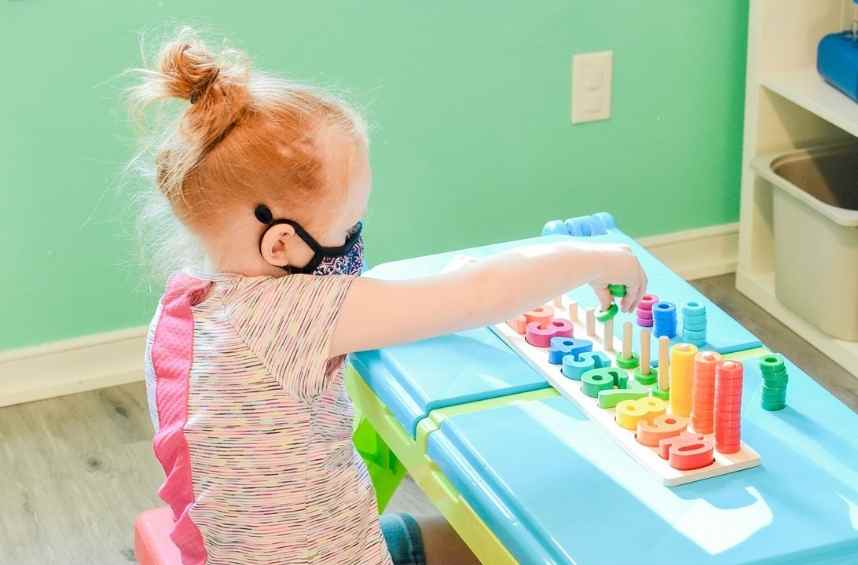 toddler learning at Legacy House Preschool in Chesterfield VA