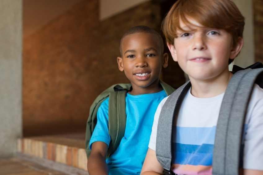 6th grade boys at school before COVID-19.