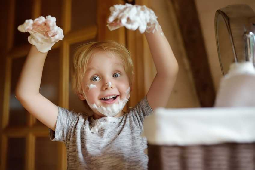 Shaving cream sensoryactivities for children with Autism